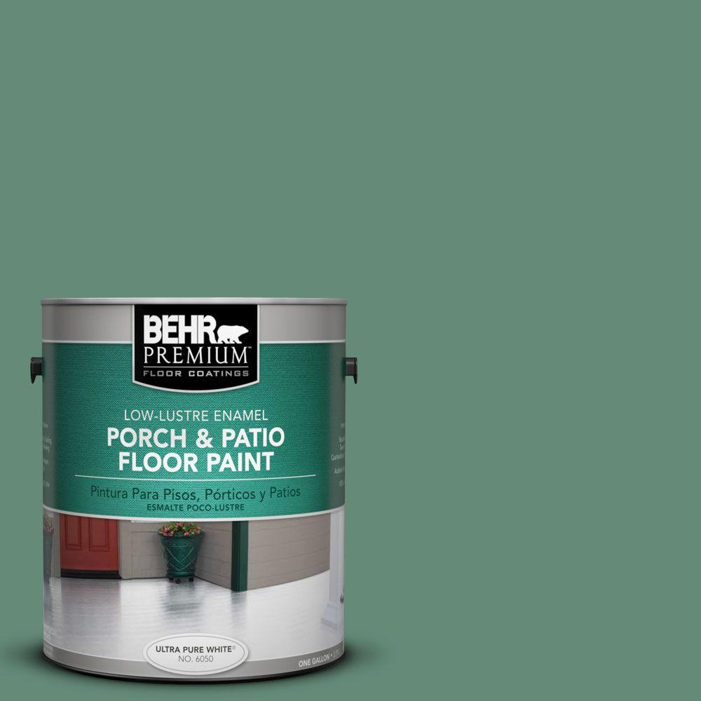 1-Gal. #PFC-44 Green Adirondack Low-Lustre Porch and Patio Floor Paint