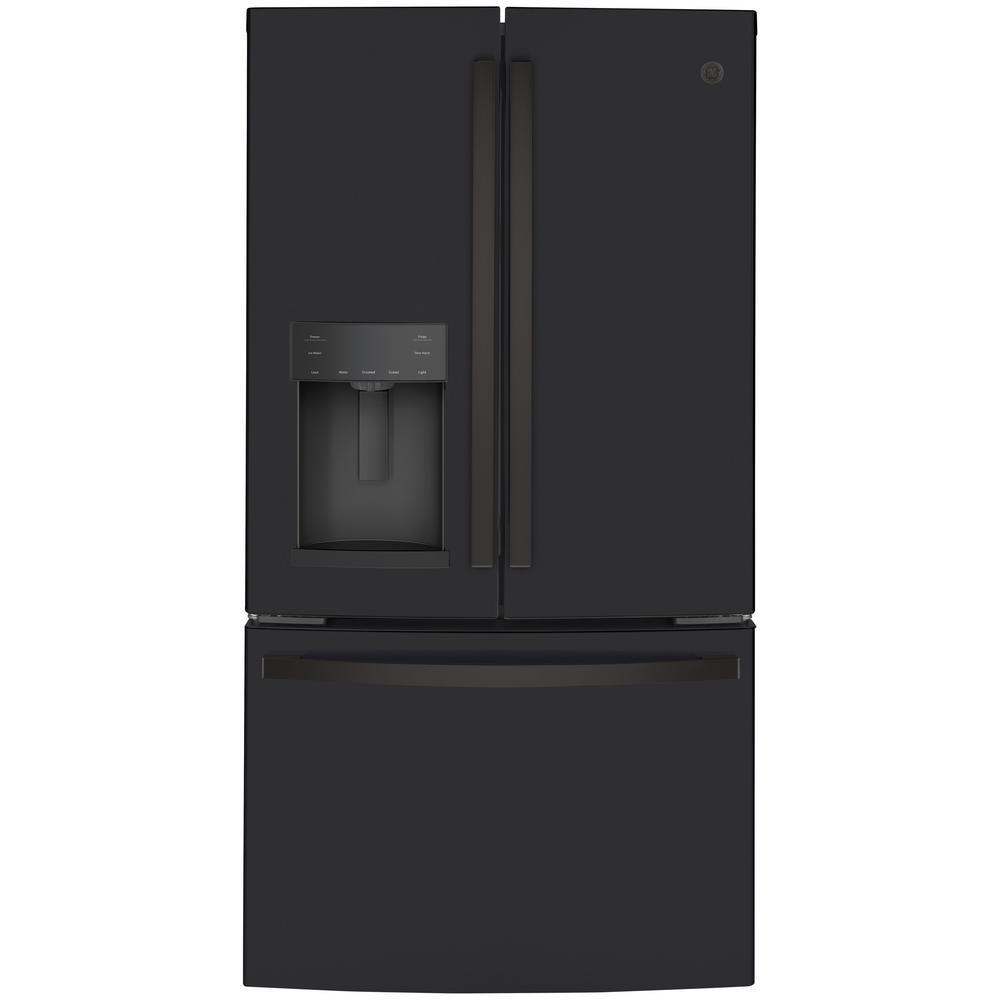 GE 22.1 cu. ft. French Door Refrigerator in Black Slate, Fingerprint Resistant, Counter Depth and ENERGY STAR