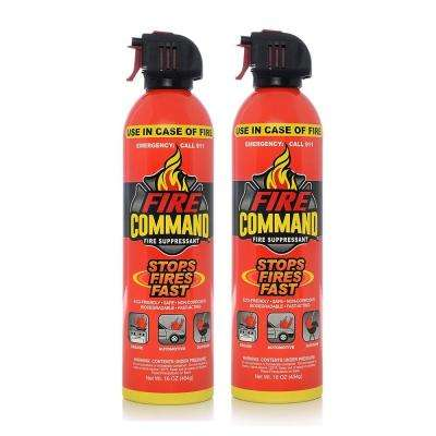 Suppressant Biodegradable Foam Fire Extinguishing Spray in 16 oz. Spray Can (2-Pack)