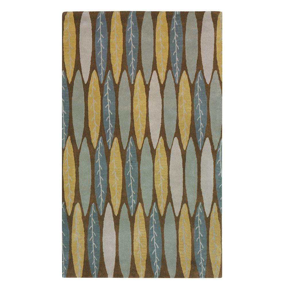 Home Decorators Collection Feather Brown 2 ft. x 3 ft. Area Rug