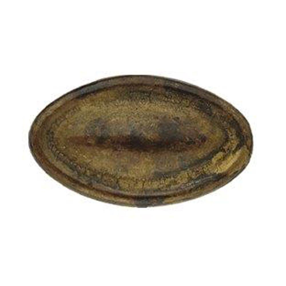 1.38 in. Old Iron Oval Brass Knob