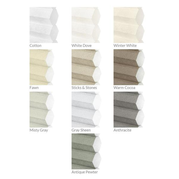 Chicology Cut To Size Winter White Cordless Light Filtering Privacy Cellular Shades 39 In W X 72 In L Ct Lt I 39 72 The Home Depot