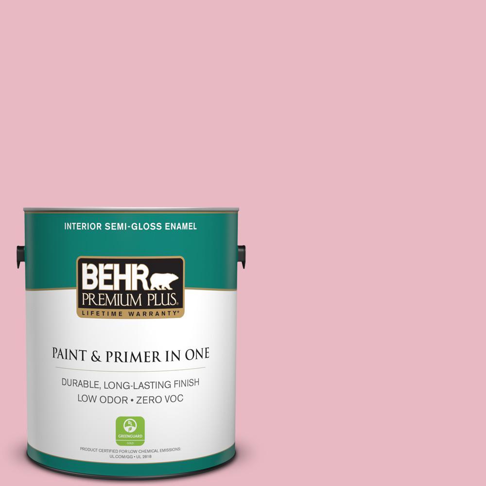 BEHR Premium Plus 1-gal. #M150-2 Peppermint Stick Semi-Gloss Enamel Interior Paint
