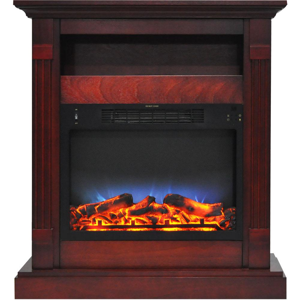 Sienna 34 in. Electric Fireplace with Multi-Color LED Insert and Cherry