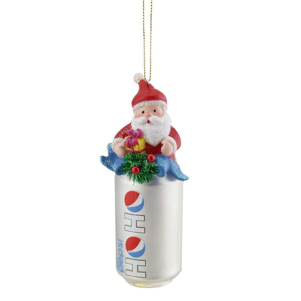 Northlight 4.75 in. Silver Ho Ho Diet Pepsi Can with Santa ...