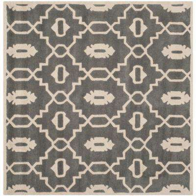 Chatham Dark Gray Ivory 3 Ft X 3 Ft Square Area Rug