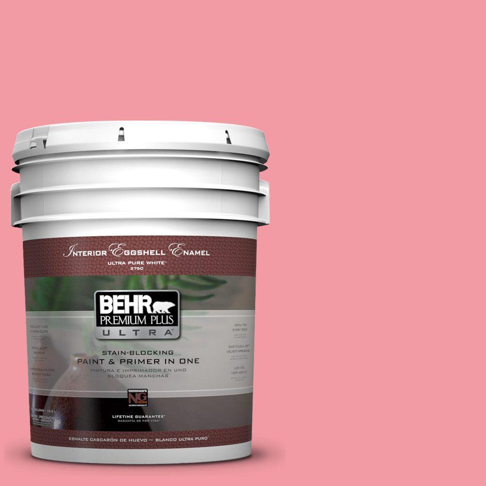 BEHR Premium Plus Ultra 5-gal. #130B-4 Primrose Garden Eggshell Enamel Interior Paint