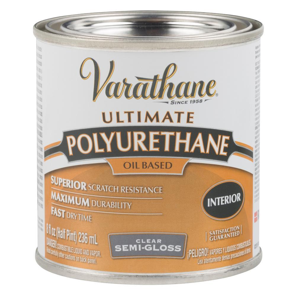 Varathane 8 oz. Clear Semi-Gloss Oil-Based Interior Polyurethane (4-Pack)