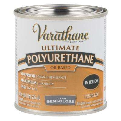 8 oz. Clear Semi-Gloss Oil-Based Interior Polyurethane (4-Pack)