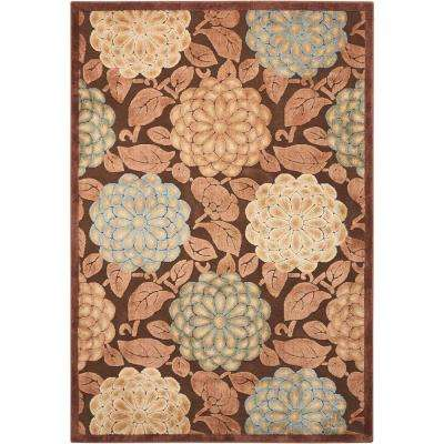 Graphic Illusions Brown 5 ft. x 7 ft. Area Rug