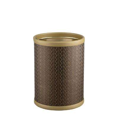 San Remo 8 qt. Antique Gold Round Waste Basket