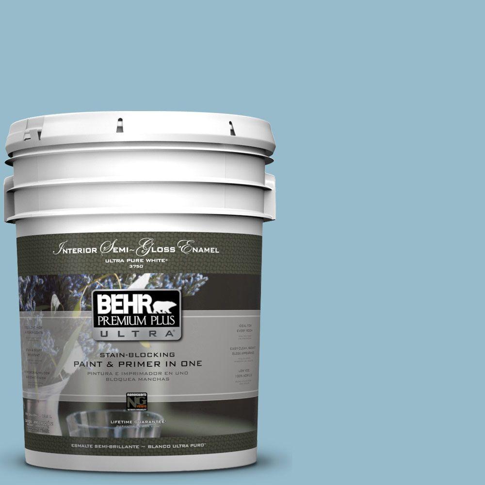 BEHR Premium Plus Ultra 5-gal. #S480-3 Sydney Harbour Semi-Gloss Enamel Interior Paint