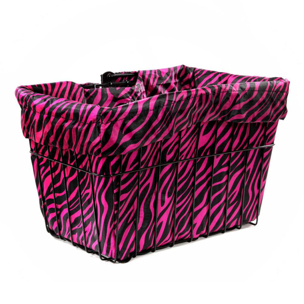 Hot Zebra Bicycle Basket Liner