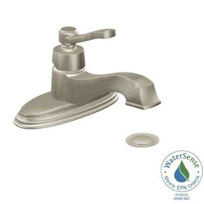 Rothbury Single Hole 1-Handle Low-Arc Bathroom Lavatory Faucet in Brushed Nickel
