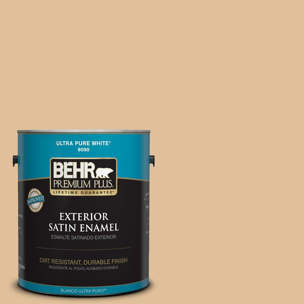 BEHR Premium Plus 1-gal. #300E-3 Clair De Lune Satin Enamel Exterior Paint