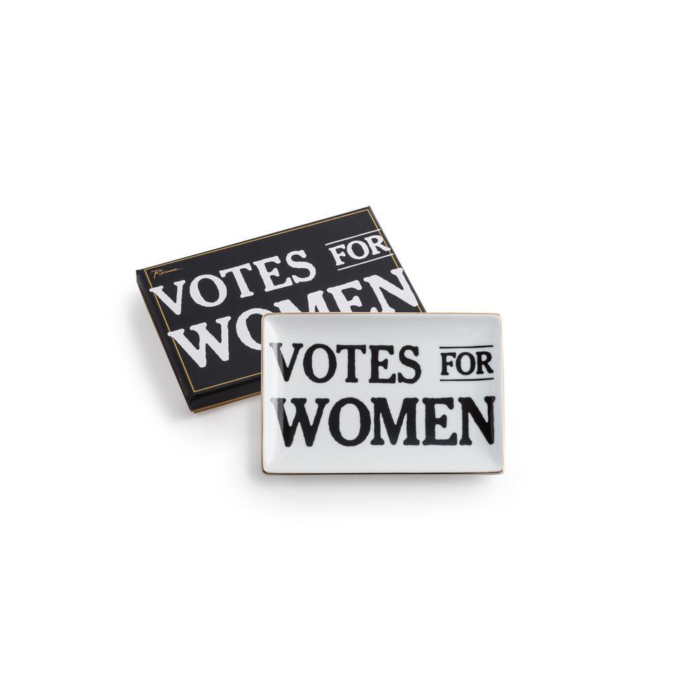 You Go Girl 4.25 in. x 6.25 in. Ceramic Votes For Women Tray