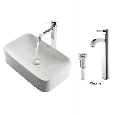 bathroom vessel sinks. Soft Rectangular Ceramic Vessel Sink  Sinks Bathroom The Home Depot