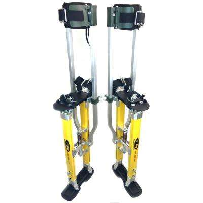 SurPro 24 in. to 40 in. Adjustable Height SP2 Quad Lock Dual Legs Support Magnesium Drywall Stilts