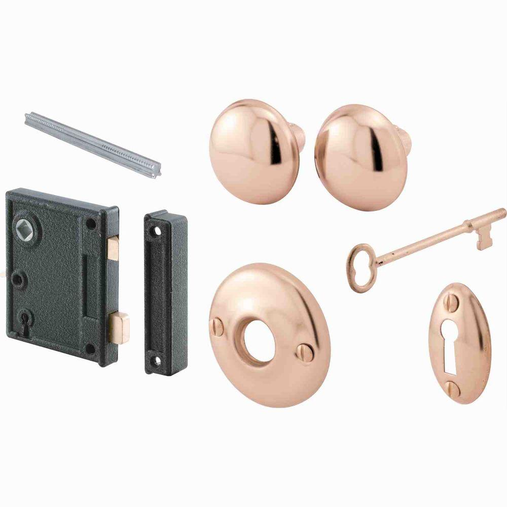 Prime-Line Polished Brass Vertical Mounted Door Lock Set-E 2437 ...