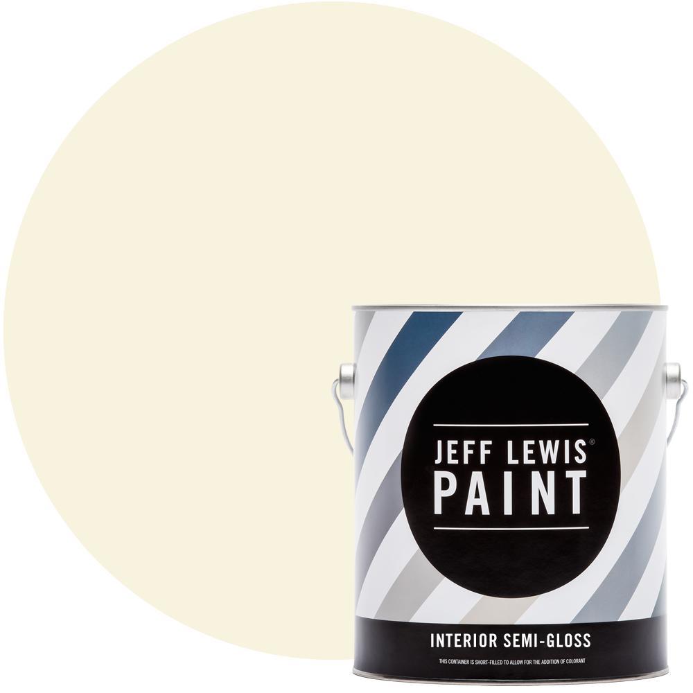 Jeff Lewis 1 gal. #710 Creme Brulee Semi-Gloss Interior Paint