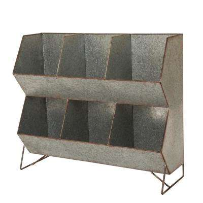 24 in. L Farmhouse Galvanized Storage Shelf