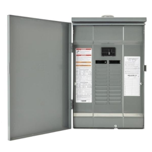 QO 150 Amp 20-Space 30-Circuit Outdoor Main Breaker Plug-On Neutral Load Center with Cover