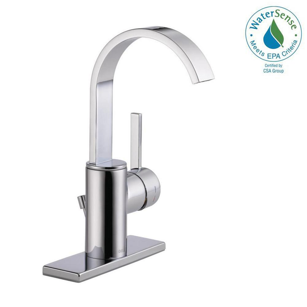 Centerset Single Handle Bathroom Faucet In Chrome