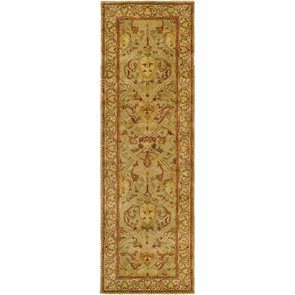 Persian Legend Moss/Beige 2 ft. 6 in. x 22 ft. Runner Rug