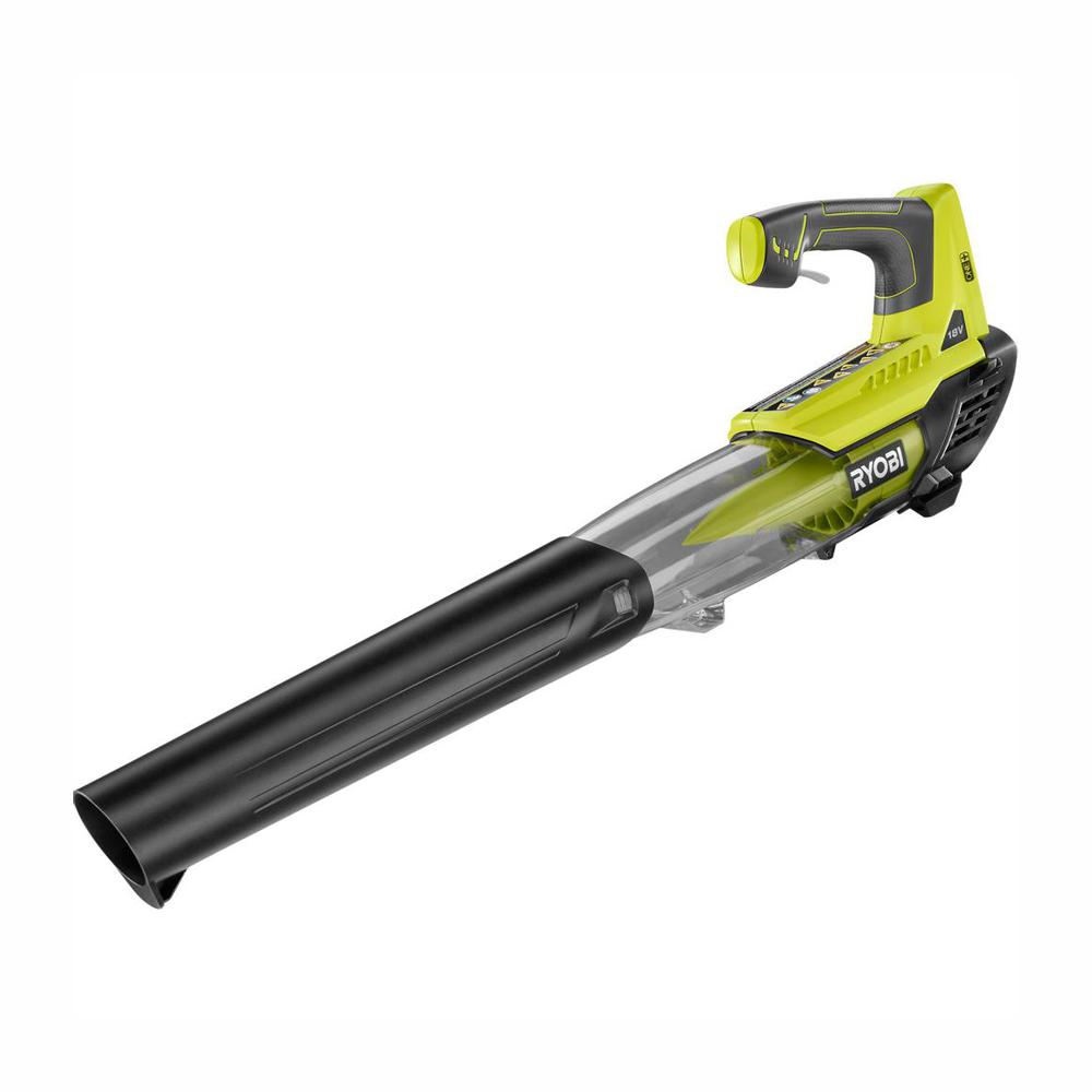 RYOBI ONE+ 100 MPH 280 CFM 18-Volt Lithium-Ion Cordless Battery Jet Fan Leaf Blower (Tool Only)