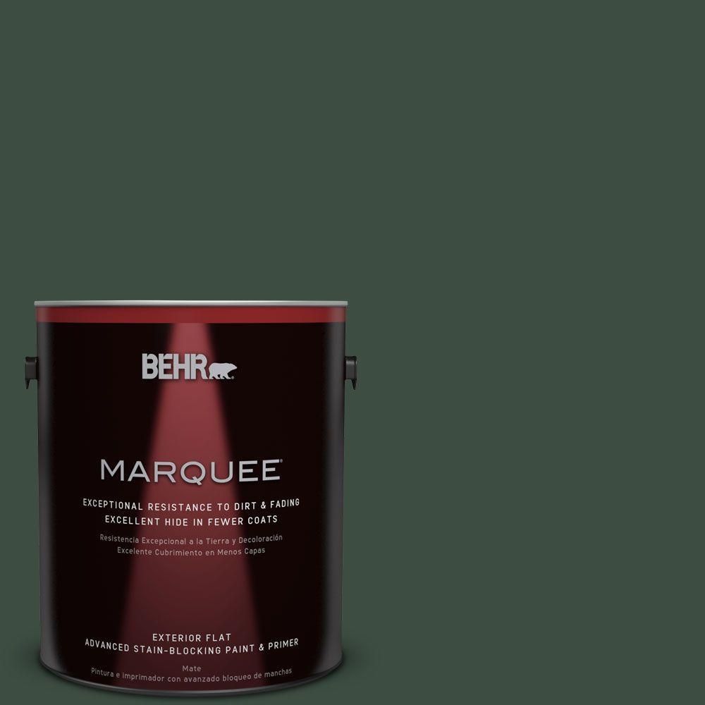 BEHR MARQUEE 1-gal. #ECC-45-3 Conifer Flat Exterior Paint