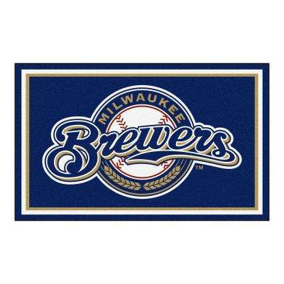 Milwaukee Brewers 4 ft. x 6 ft. Area Rug