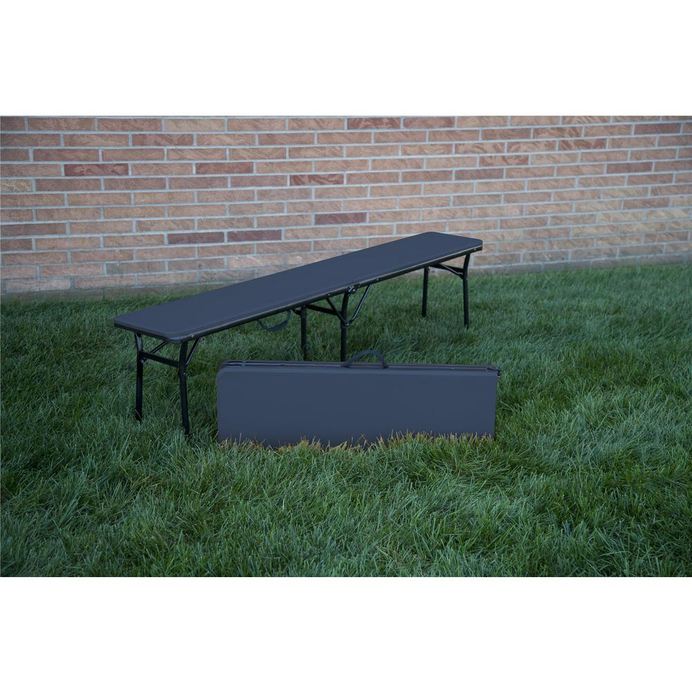 Cosco Dark Blue Portable 2 Pack Folding Tailgate Bench 14416DBK2E   The  Home Depot