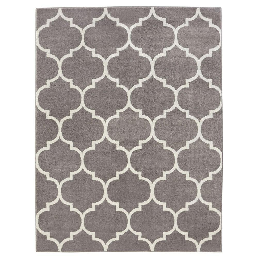 Ottomanson Contemporary Moroccan Trellis Grey 8 Ft. X 10