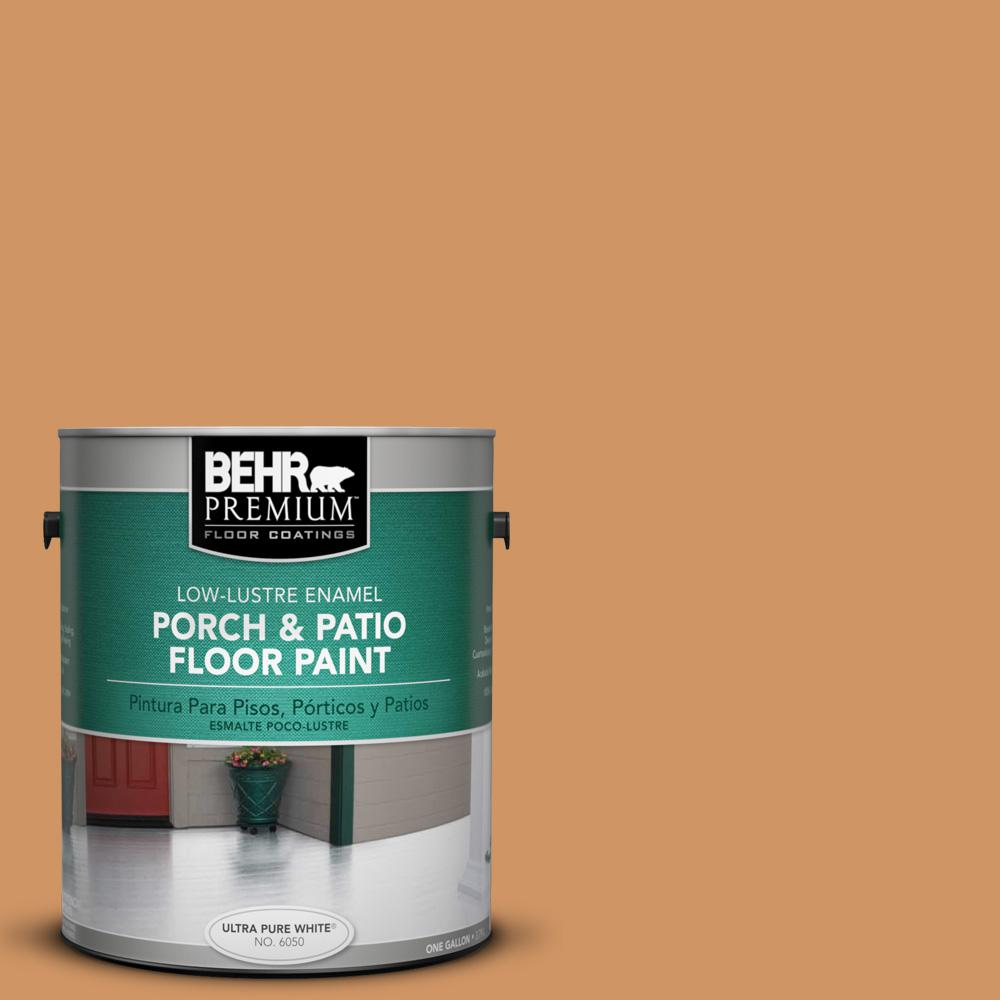 1 gal. #280D-5 Glazed Pecan Low-Lustre Porch and Patio Floor Paint