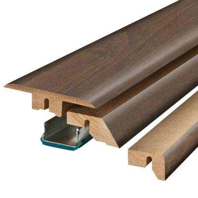 Antique Cherry 3/4 in. Thick x 2-1/8 in. Wide x 78-3/4 in. Length Laminate 4-in-1 Molding