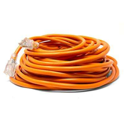 100 ft. 12-Gauge Heavy-Duty SJTW Outdoor 12/3 Extension Cord with NEMA 5-15R Light-Up Power Outlet