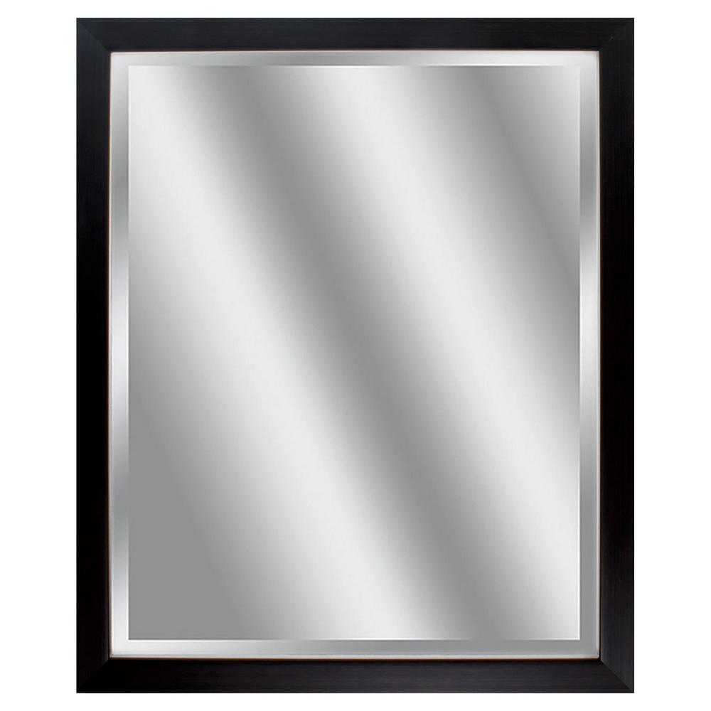 Victoria 32 in. x 26 in. Classic Rectangle Framed Black Vanity Mirror