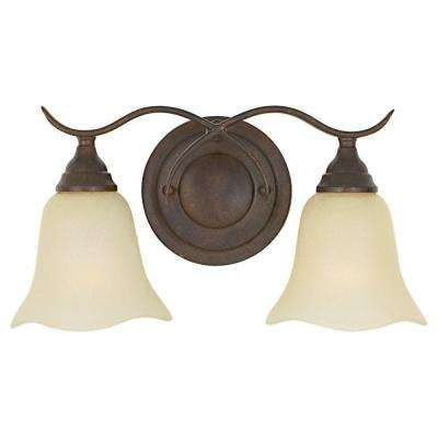 Morningside 2-Light Grecian Bronze Vanity Light