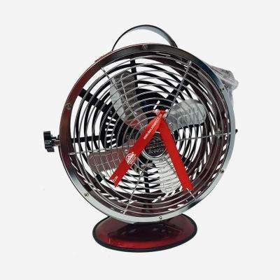 Red 10.9 in. Himalayan Breeze portable Table Fan