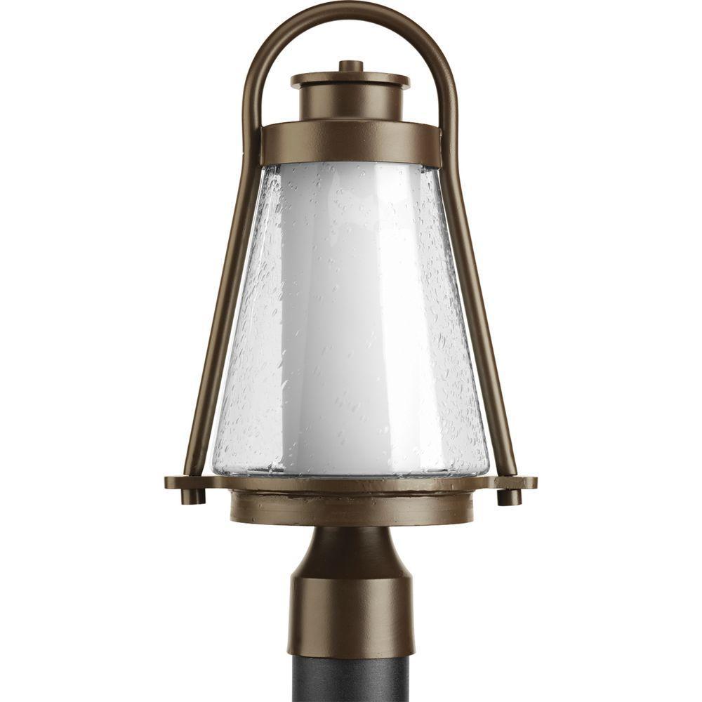 Progress Lighting Regatta Collection 1-Light Antique Bronze Outdoor Post Lantern