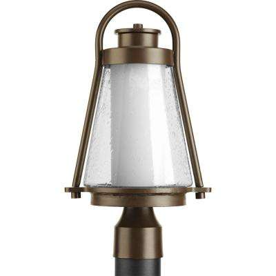 Regatta Collection 1-Light Antique Bronze Outdoor Post Lantern