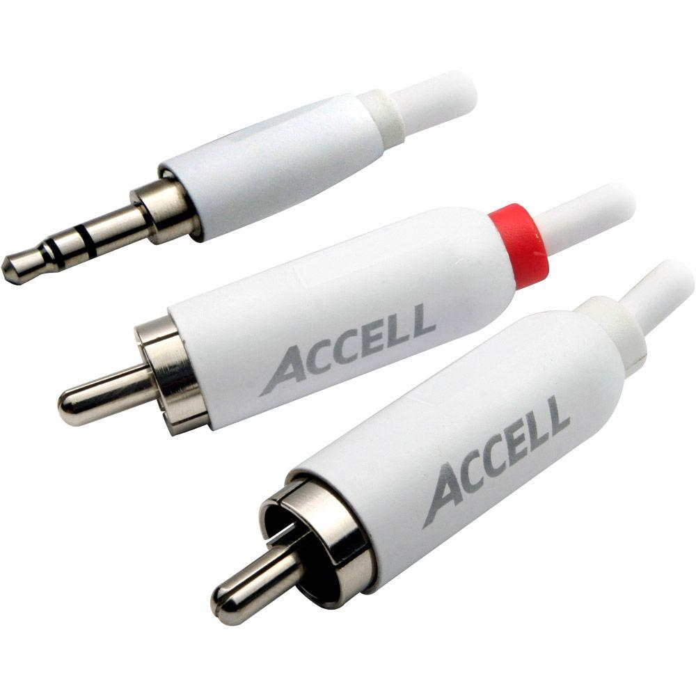 Accell 3.5 mm Stereo LR Audio RCA Cable for iPod