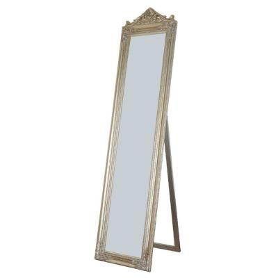 Oversized Champagne Wood Modern Mirror (71 in. H X 1.9 in. W)