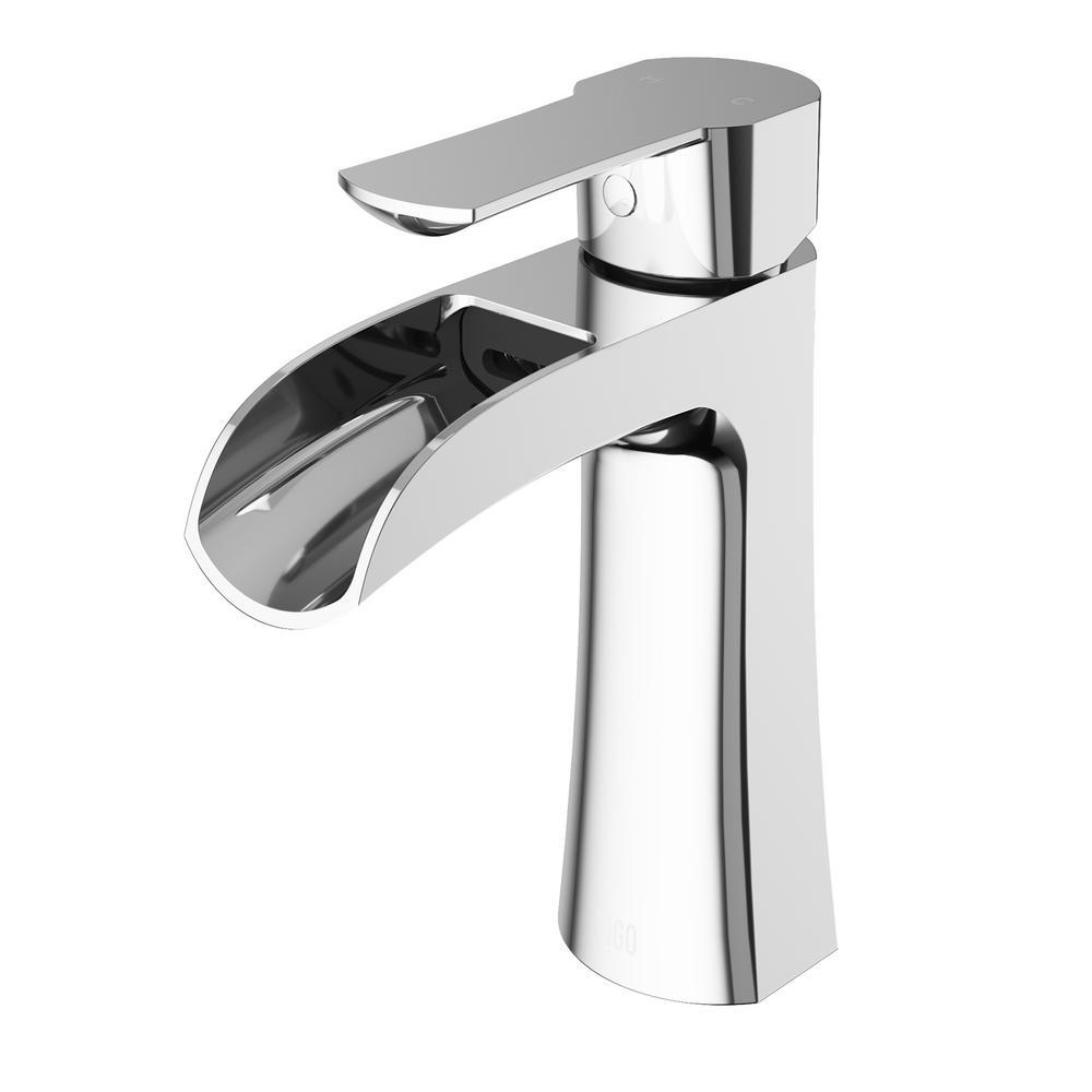 VIGO Paloma Single Hole Single-Handle Bathroom Faucet in Chrome ...