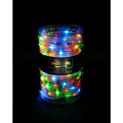 26 Ft 100 Light Led Multi Color Battery Operated Micro Dot Rope Light