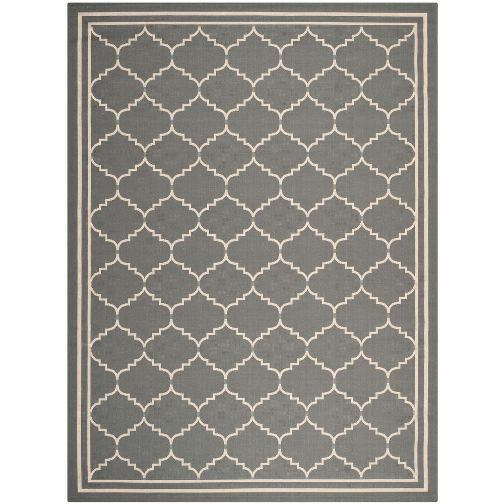 Safavieh Courtyard Gray/Beige 9 ft. x 12 ft. Indoor/Outdoor Area Rug