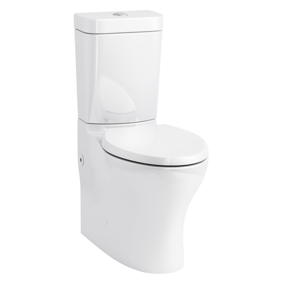 KOHLER Persuade 2-Piece 1.0/1.6 GPF Dual Flush Elongated Toilet in White