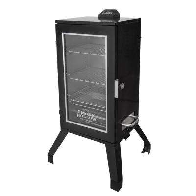 30 in. Digital Electric Smoker with Window in Black
