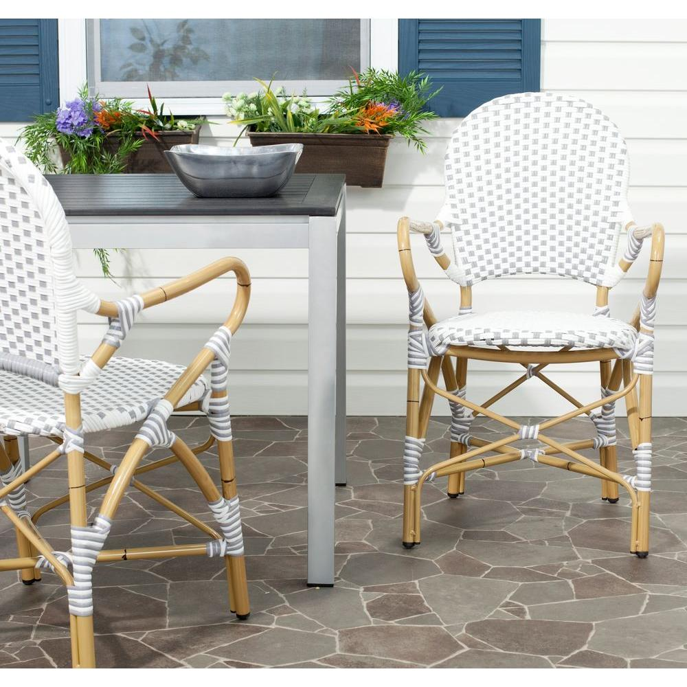 Hooper Grey & White Patio Dining Chair (2-Pack)
