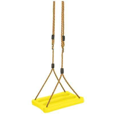 One Of A Kind Standing Swing With Adjustable Ropes Fully Assembled Yellow